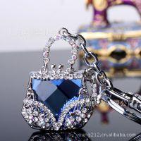 【厂家直销】 手包 水晶镶钻嵌钻钥匙扣 包挂 挂件 43039