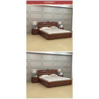 美希恩实木床双人床 简约现代中式全实木储物高箱床