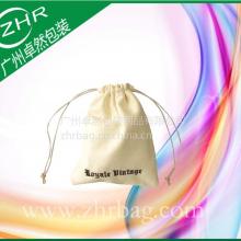 优质全棉穿绳束口袋 手机穿绳帆布环保化妆品礼品袋 可丝印热转印