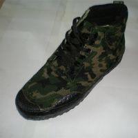 厂家直销老北京布鞋劳保工作胶鞋 帆布户外登山 作训迷彩解放鞋