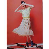 安格品牌女装夏连衣裙尾货折扣批发 品牌正品连衣裙女装代理一手货源