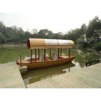 庆荣木业供应观光船 旅游木船 画舫船 餐饮船 各种木船