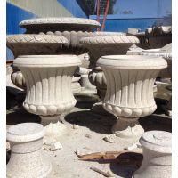 锈石石材花盆加工工厂 石材花盆图片大全 可来图定制永权雕塑