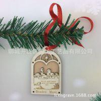 圣诞精美挂件 木质圣诞节圣诞树装饰挂件 高端定制木质装饰品