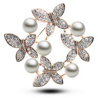 淑女必备 韩版珍珠 白领胸针别针 胸花 女 礼物 两用 4983