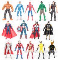 14款复仇者正义联盟神奇四侠超人蝙蝠侠钢铁侠绿巨人发光公仔