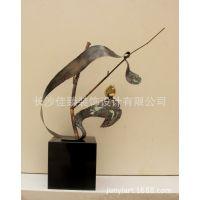 中式酒店装饰品摆件黄铜小鸟会所售楼处室内软装雕塑工艺品