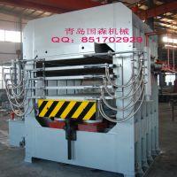 供应设计合理精度高国森牌竹地板热压机Bamboo floor Press