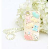 baby 熊 Iphone5 贴钻手机壳 苹果5水钻手机套 镶钻手机壳 diy