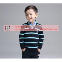 巴布豆童装 欧美男童纯棉长袖针织衫低价批发 广州的纯品牌折扣童装超低一折起批发