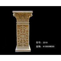 四川砂岩罗马柱欧式雕塑圆雕砂岩园林景观