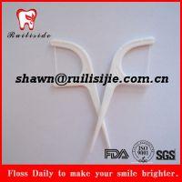 超高分子牙线签,出口塑料牙线棒