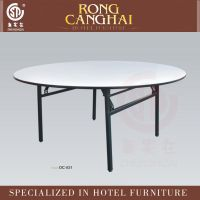【广东家具厂家】酒店宴会厅PVC圆形折叠餐桌餐台OC-821