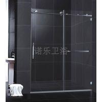 外贸爆款不锈钢简易钢化玻璃一固一活淋浴房吊趟门BR013