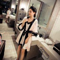 魔衣宝贝2015夏季新款女韩版蕾丝吊带睡裙+睡袍两件套睡衣家居服