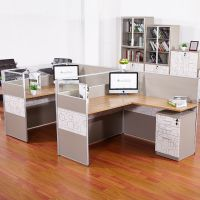 多孚办公家具两人位组合办公桌椅电脑桌简约现代屏风卡位职员桌