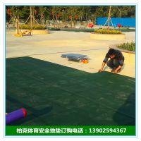 珠海健身房隔音承重安全地垫防滑垫子耐磨块状地垫柏克体育