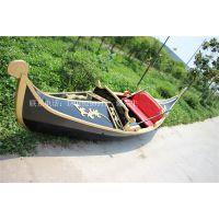 情侣手划船湖南长沙公园手划木船欧式观光船景区客船