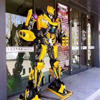 大黄蜂机器人变形金刚模型大型音乐跳舞互动机器人广场