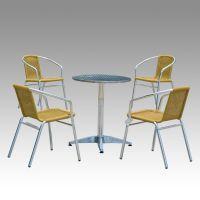 供应创意家居创意桌椅套件休闲家具户外五件套组合编藤椅子茶几三件套