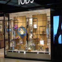 佛山长合一品服装展示柜 不锈钢女装衣架挂件 活动展示架正挂侧挂