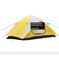 户外用品双人双层双开门休闲沙滩帐篷/防紫外线/防雨野营帐篷
