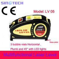 出口正品数显水平尺 3线激光标线仪 水平测量仪 lv05 圈尺550cm