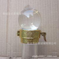高档实心玻璃盖子 平口酒瓶专用圆球形瓶盖 配卡扣内芯