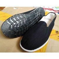 供应黑色工作鞋x黑布鞋男女黑色帆布鞋 3520布鞋78布鞋批发