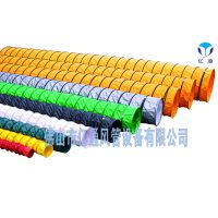 PVC塑料布螺旋隧道矿喷漆粉尘抽排吸风机软管道300mm