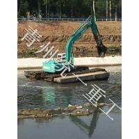 南方城市河道清淤泵设备 江西内涝水上挖掘机 统一高效挖泥设备