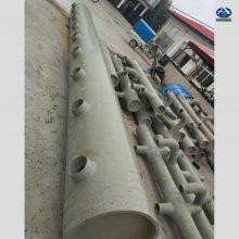 【环保工程】制碱厂脱硫塔专用FRP喷淋管道 玻璃钢PP材质多钱一米 河北华强