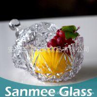 供应三美现货XMTG-S504糖果玻璃储存器皿 居家实用储物玻璃器皿