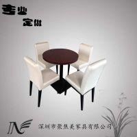 2人位圆桌餐厅定做 实木圆桌厂家生产定做