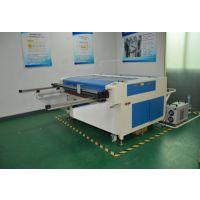 黑金刚自动皮革切割机—全自动切割机配备自动上料装置和自动下料装置。