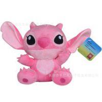 热销公仔 迪士尼正品 萌物安吉尔小玩偶儿童粉红大布娃娃礼物
