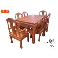 象头餐桌主人椅厂家直销红木家具款式图、整套家具价格