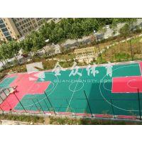 全众体育聚丙烯材料耐磨室外运动悬浮地板