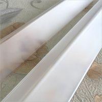 磨砂系列透明亚克力墙角护角 护墙角透明磨砂质感材料平头型