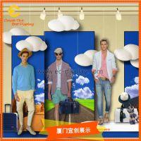 蓝天白云背景服装展示橱窗仿真云朵道具