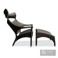 樱桃高背椅藤艺家具欧式家具实木休闲创意酒店咖啡韩式时尚靠背餐椅子组合