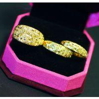 仿黄金饰品 纯铜保色饰品 男士女士中性款情侣戒指 活口可调节
