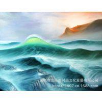 批发 高仿真油画 喷绘油画 定制 无框帆船风景 工艺画
