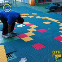 运动场排球场篮球场 塑料地板 悬浮地板厂家悬浮式拼装运动