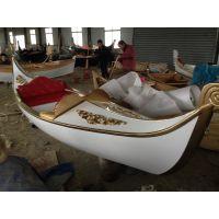 辽宁抚顺木质船公园游船欧式手划船威尼斯贡多拉贡多拉船景区客船