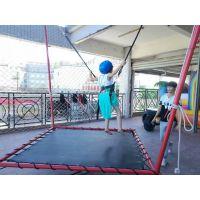 孩子玩耍儿童蹦极长得快 飞天蹦极的安装步骤 游乐器材蹦极玩具设备