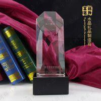 斜面精美水晶碑定做;服装营销管理奖杯;哪里奖杯便宜批发?