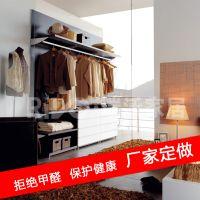 厂家直销简约展示衣服架批发定做一年质量问题包退换实木衣柜