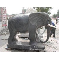 曲阳厂家直销大理石晚霞红精品石雕吉祥如意大象加工定做红