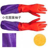 加长加厚加绒毛 家务清洁手套 橡胶手套 乳胶手套 冬季清洗保暖